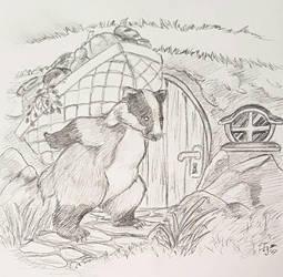 Badger children's book illustration by I-A-Grafix