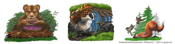 Forest Animals - children's books by I-A-Grafix
