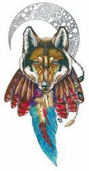 Moon - Wolf Shirtdesign by I-A-Grafix