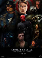 Captain America poster by Valor1387