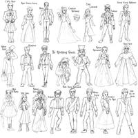 Haunted Mansion characters BW by Valor1387
