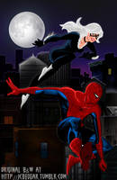 Spider-Man and Black Cat colored by Valor1387