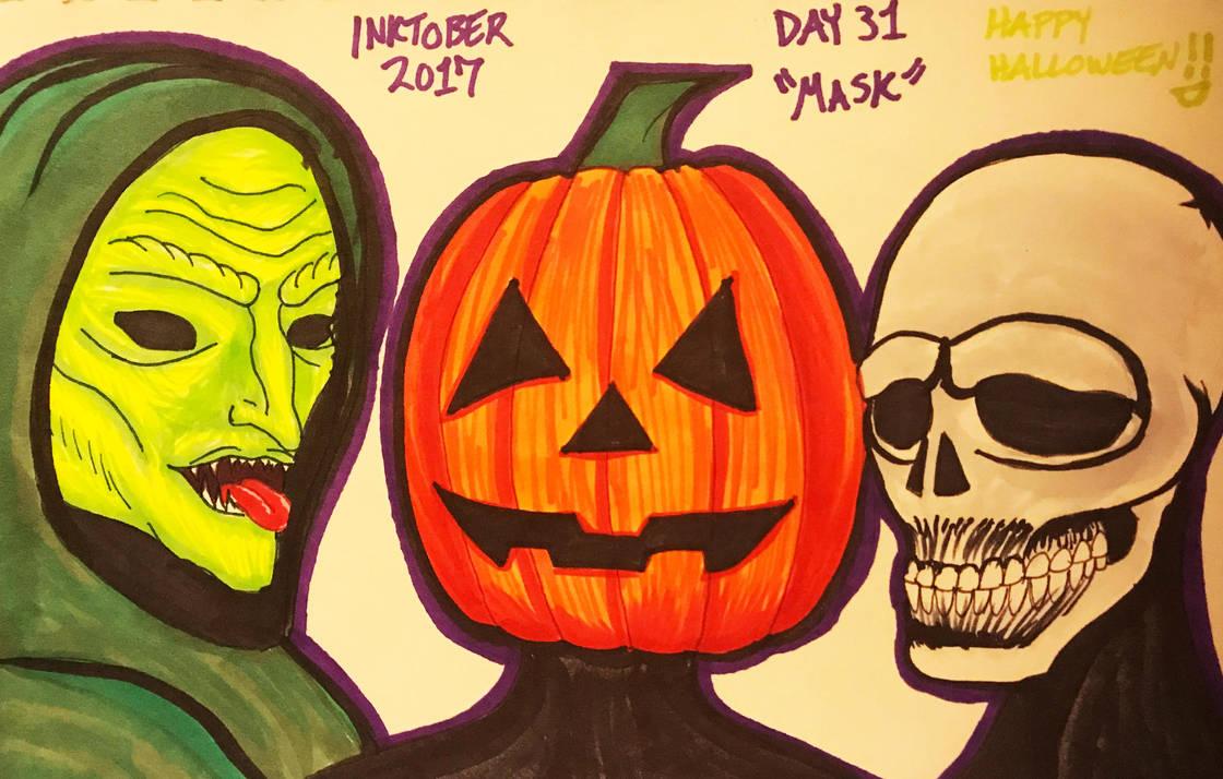 Inktober 2017 Day 31 'Mask' by Valor1387