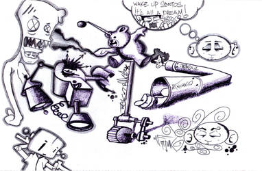 Graffiti character dream by MF-minK