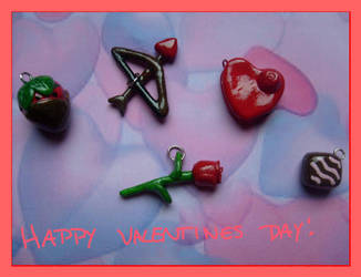 Valentines Day Charm Set by Demi-Plum