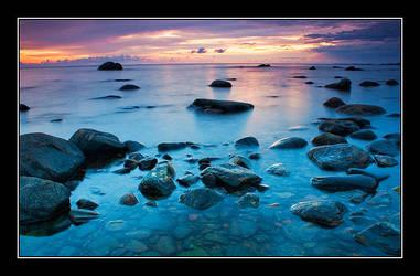 Blue Sunset by Yaninah