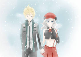 Yuu and Alisa in the snow by sakurasaki0221