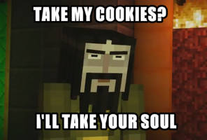 Don't touch Ivor's cookies by Angeygirl