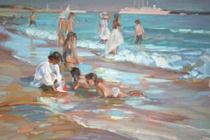 children.beach by AndriyMarkiv