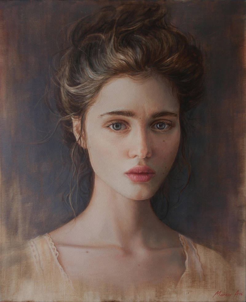 portrait.oil. by AndriyMarkiv