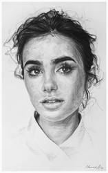 Lily Collins by AndriyMarkiv