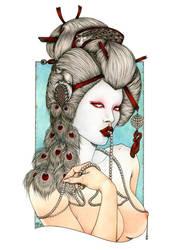 ALBINO GEISHA by Zoe-Lacchei