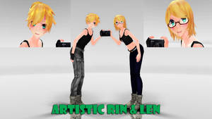 Artistic Rin and Len MMD Model Dl by Allena-Frost-Walker