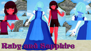 Ruby and Sapphire MMD Model Dl by Allena-Frost-Walker