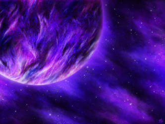 Violet planet by OV-art