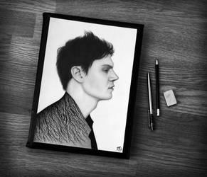 Evan Peters_ by OV-art