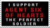 I Support Agent Six of Hearts by geeksam311