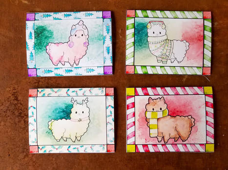 Alpaca or Llama Christmas Cards by KillerKatDesigns