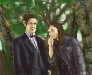 The Doctor and Clara by waryfalcon