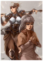Lenneth and Platina by irving-zero