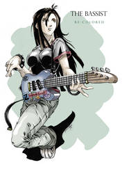 the bassist re-colored by irving-zero