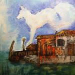 glasblowers studio, oil by Sheevee
