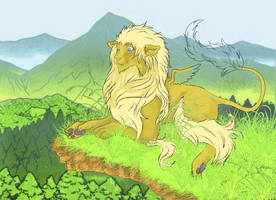 winged lion by Sheevee