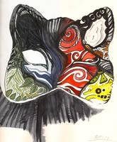Sketchbook- Cat mask by Sheevee