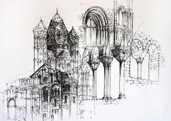Romanesque Architecture by Alphirin