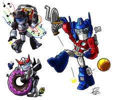 Autobot Chibi Set by Laserbot