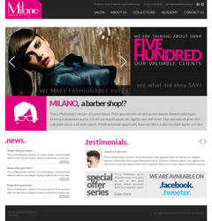 Milano Website by oreallove