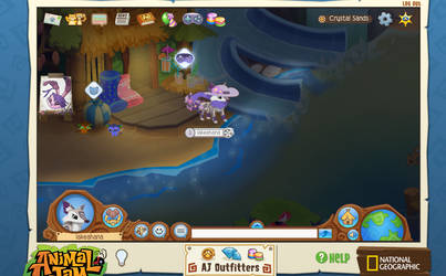 Image of: Jamaa Roseyicywolf Night Time Crystal Sands By Roseyicywolf Deviantart Screenshots On Animaljam Deviantart