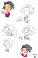 PW - Chibi poses - Edgeworth by julewooster