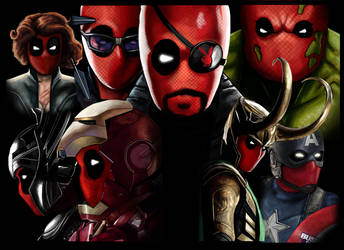 Deadpooled Avengers by HeroforPain