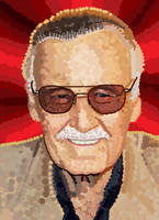 Stan Lee is Dots by HeroforPain