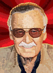 Stan Lee is Dots by HeroforPain