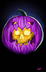 Purple Pumpkin People Eater by HeroforPain
