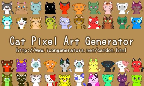 Cat Pixel Art Generator by h071019 on DeviantArt
