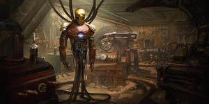 Steampunk Iron Man by eddie-mendoza