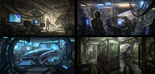 Sci-Fi Interiors by eddie-mendoza