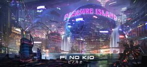 Cyberpunk Pinocchio - Pleasure Island by eddie-mendoza