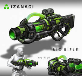 Unreal Tournament - Bio Rifle by eddie-mendoza