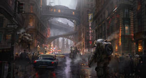 Rainy Street by eddie-mendoza