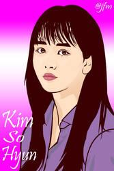 Kim So Hyun vector art by atjfm