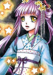 Kakao/ACEO: Star Child by leinef