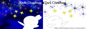 Dark n White Christmas Tuzki by CinnamonPeach