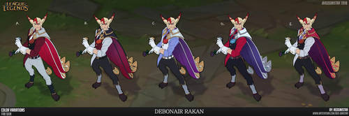 League of Legends-Debonair Rakan (color variation) by Red-Sinistra