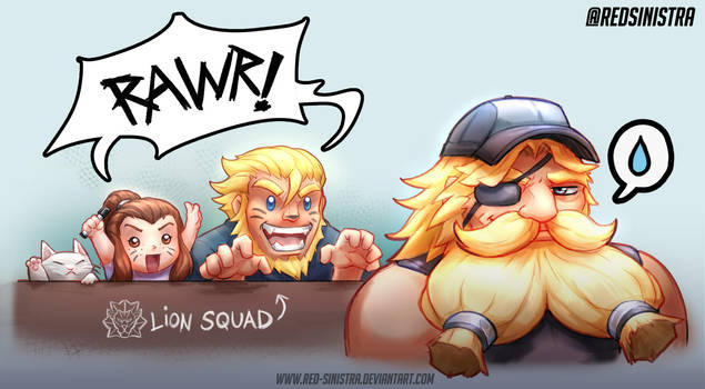 Overwatch - Lion Squad! by Red-Sinistra