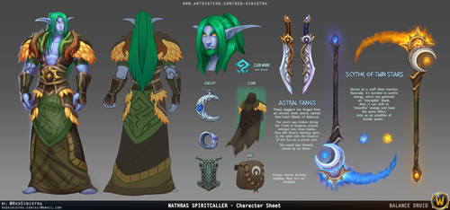 WoW - Nathras Spiritcaller Reference Sheet by Red-Sinistra
