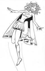 Supergirl BW by MuShinGirl